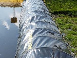 Installatie van de tijdelijke waterkering