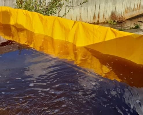 Temporary flood defense for private individuals