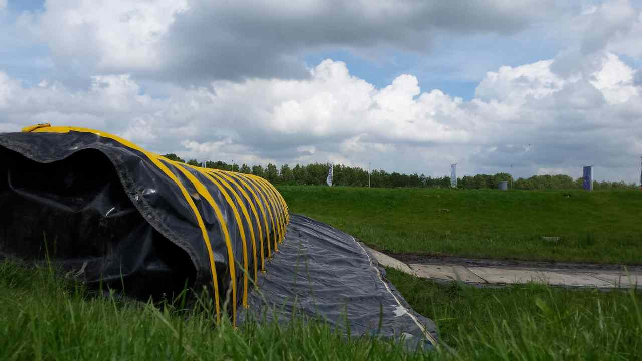 Flood Barrier on a dyke